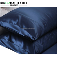 China Supply 100% Natural 19 Momme Charmeuse Silk Pillowcases King Size In Dark Blue