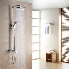 Hot Sale Factory Price Wall Mounted Exposed Bath Rain Shower Set With Storage Place