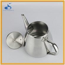 home appliance custom stainless steel Turkey tea pots with wood handles