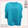 Direct factory ladies knitting short front long back ladies corporate blouses