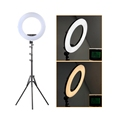 FE-480II LED Ring Light 96W Dimmable Video Light LED Lamp 3200-5500K with Phone Holder Make up Mirror