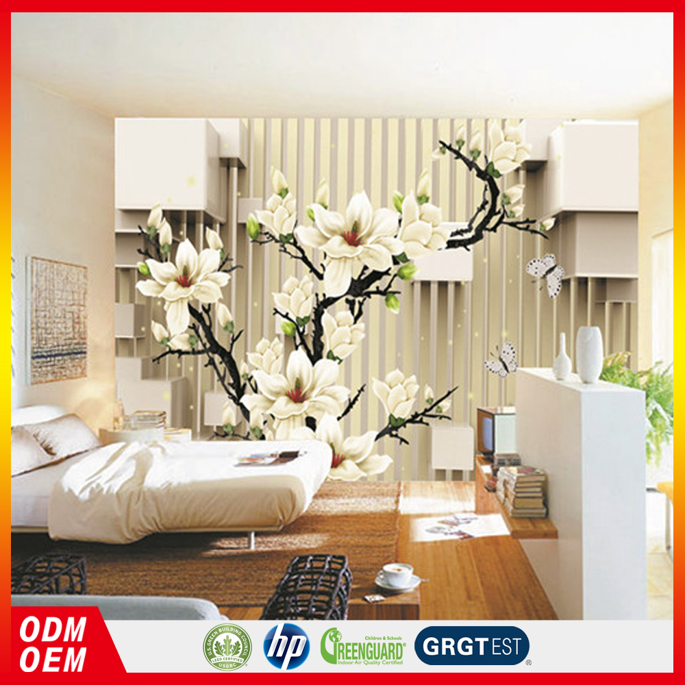 China Supplier yulan flower design outdoor design wallpapers for sale