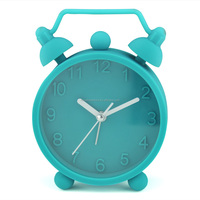 mini twin bell unbreakable silicone alarm clock