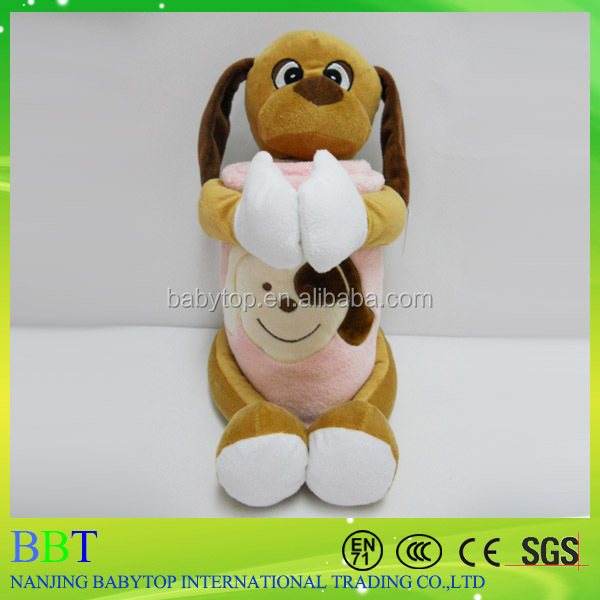 china toy factory baby blanket with educational dog toy