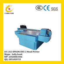8 colors 2 printerhead high speed digital uv inkjet printing machine price