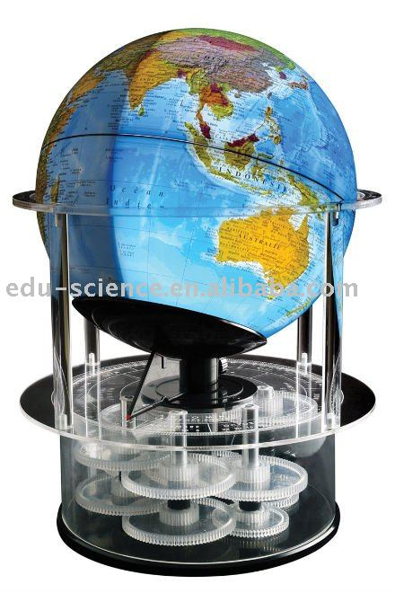 The Real Solar Time Rotating Globe