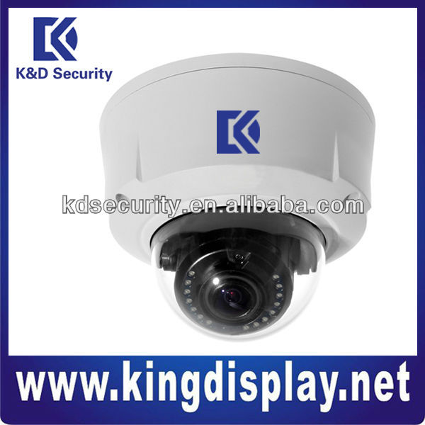 Full 1080P 2 Megapixel H.264 Dual-streams ICR Day and Night 20 Infrared Waterproof Dome IP Camera with zoom