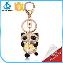 Cute baby panda keychain with lobster claw clasp