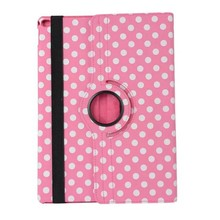 Best selling Fashionable Multi Colors Polka Dot 360 Degree Rotating Polka Dot Tablet Leather Case Cover For Apple iPad 2 3 4