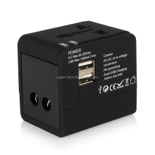 Universal World Travel Adapter Converter With Dual USB Charger UK/US/EU Plug