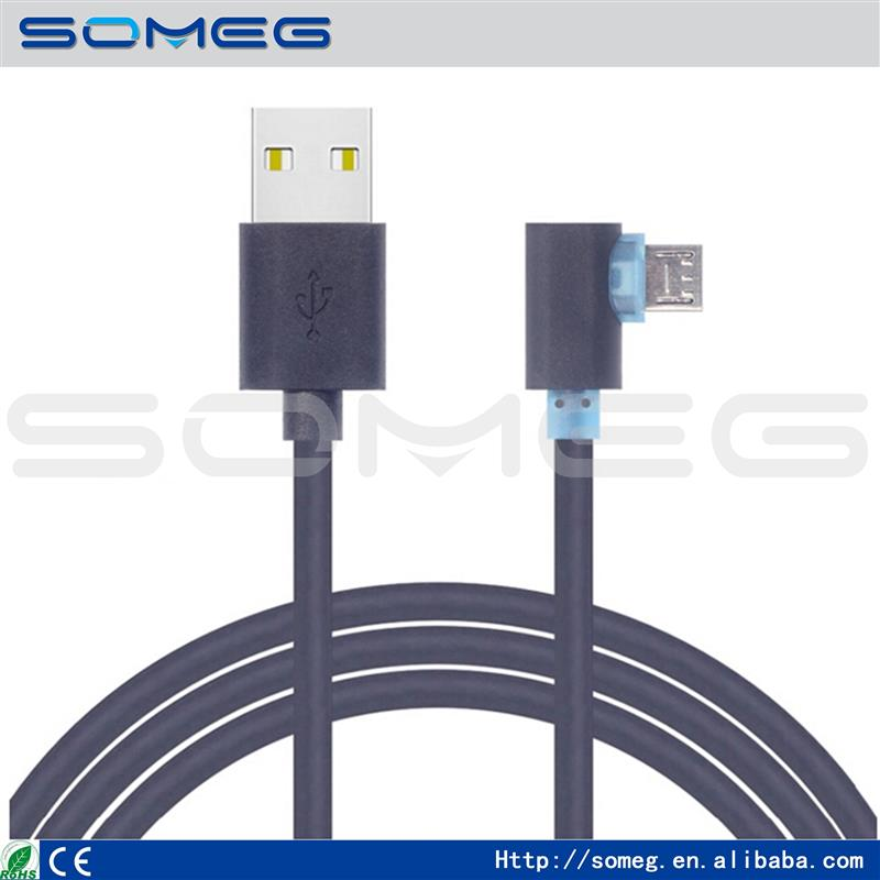 wholesale Unversal 90 degree Elbow Micro USB Cable 1M &1.8M Fast Charging & Data Sync Cords for Samsung S6