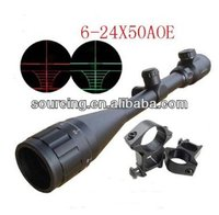 tactical Hunting rifle for night vision Scope 6-24x50 AOE Red & Green Illuminated Crosshair Gun Scopes long range