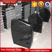 UK Style Shanxi Black Granite Tombstone & Memorial Monuments