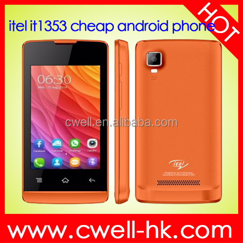 very low price mobile phone itel it1353 Touch Screen Low Price Android 4.4 3.5 inch smartphone