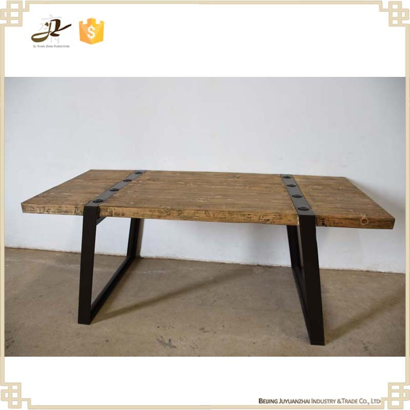 Dining Room Furniture Reclaimed Wood Solid Wood Industrial Wood Metal Dining