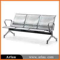 Durable Stainless steel airport waiting bench with 3 seats for sale