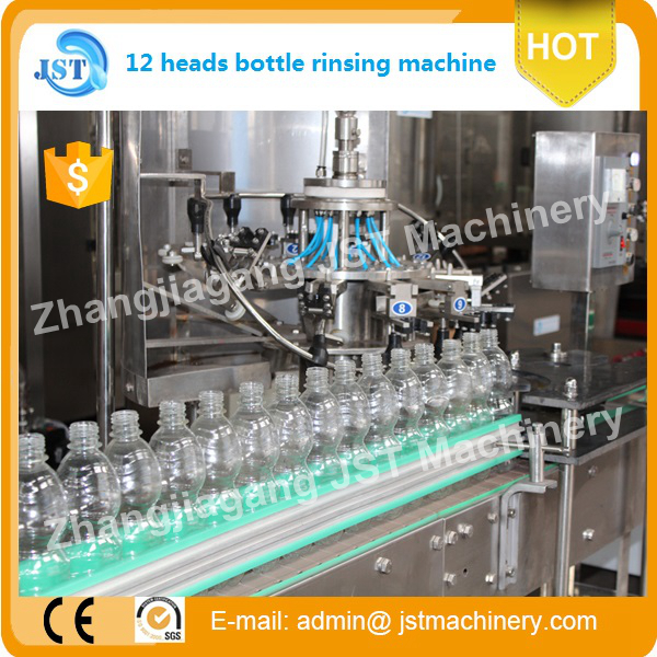 linear type Complete small sacle rose water filling machine