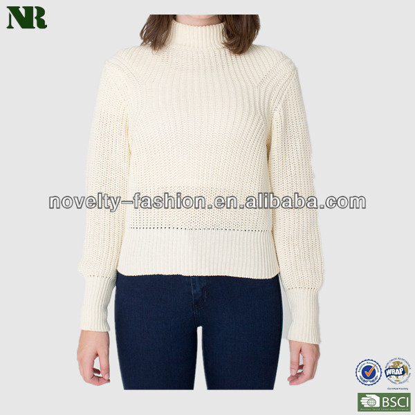 Women Pullover Mock Neck Sweater