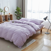 pure 100% cotton beautiful and soft purple king size knitted jersey duvet cover