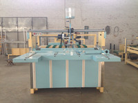 semi automatic carton folder gluer machine/carton gluing machine