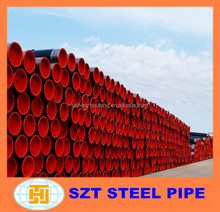 Astm API5L A106 grb A53 schedule 40 seamless carbon steel pipe with black painted for construction random length tube