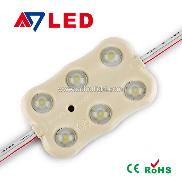 6 leds CE ROHS smd 5030 led chip SMD2835 led injection module for sign 5 years warranty