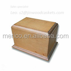 POPLAR wooden cheap cremation urns for ashes