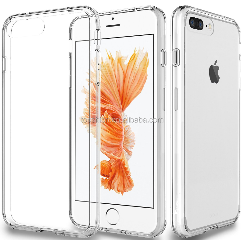 New Products 2016 Super Slim For iPhone 7 Transparent Clear TPU Case Cover, For iPhone 7 Plus Clear TPU Case