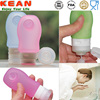 Bathroom Products/Toilet Accessories Refillable Toiletries Container/Squeezable Silicone Travel Tubes Manufacturer