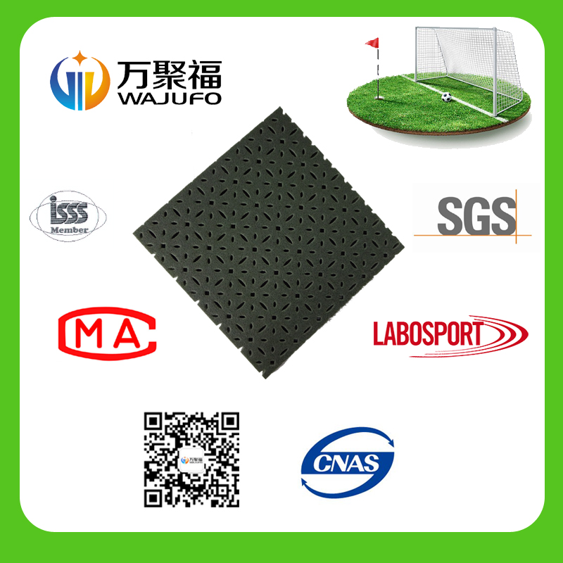 2016 high quality artificial grass under pad for football field