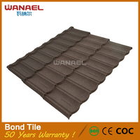 Roofing material types Wanael Bond 1340x420mm Cheap Lowes Concrete Cement Roof Tiles
