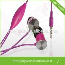 Newest wholesale dual metal driver mini earphone In -ear style with patent and CE&ROHS certificate