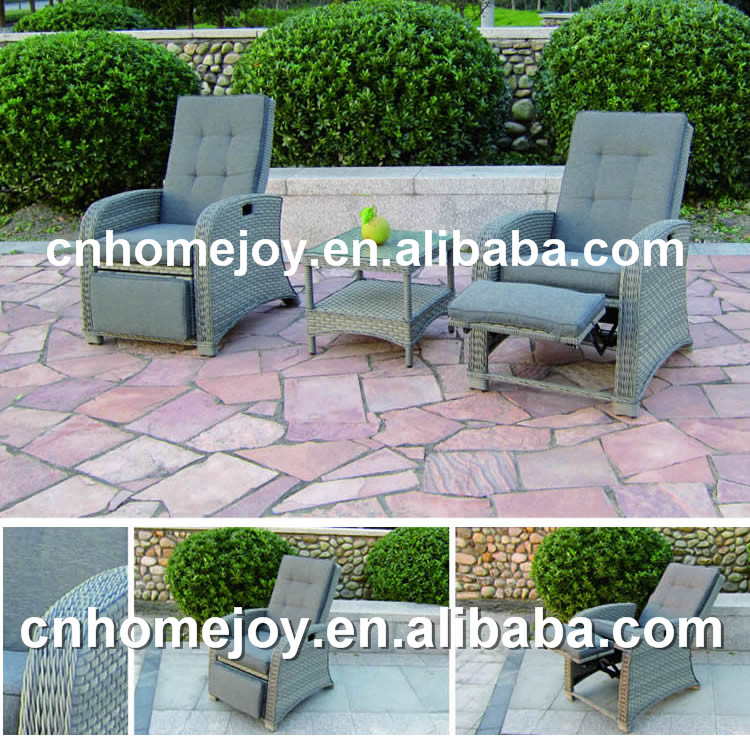 Deluxe rattan outdoor reclining chair reclining beach for Sofa exterior reclinable