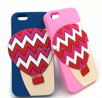 Colorful wavy balloon mobile phone silicone case,soft skin mobile phone silicone case for iphone 4 5 6