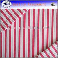 100% Cotton Yarn Dyed red and pink stripe fabric