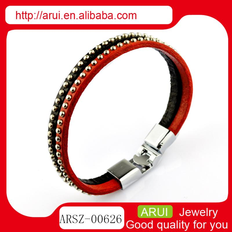 Novelties goods from China colour rivets leather bracelets charm