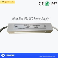 220v 230v ac to 12v 24v dc transformer, 30w outdoor led waterproof power supply