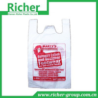 PLASTIC MACHINE MADE T SHIRT CLEAR BAGS