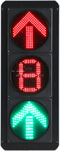 Cheap solar warning flashing outdoor double sided led road safety traffic light