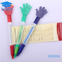 Customized low price cute palm shape banner pen