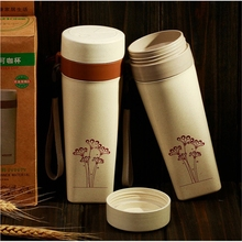 China Suppliers New Products Kitchen Plastic Wheat Straw Water Bottle