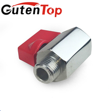 Cheap 1/4, 3/8, 1/2 inch nickle plated male female NPT/BSP thread full port mini ball valve