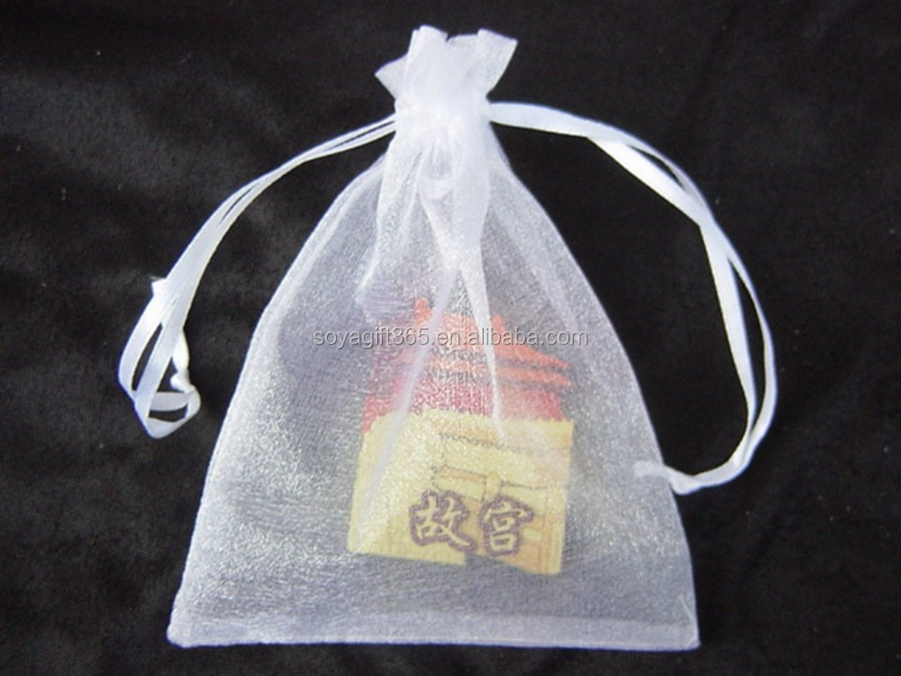 Multi-size White Organza Jewelry Packing Pouch Wedding Party Favor Gift Bags 100pcs/lot