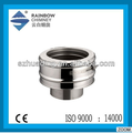 Stainless steel double wall chimney spigot lock system adaptor stove chimney pipe fittings flue kits