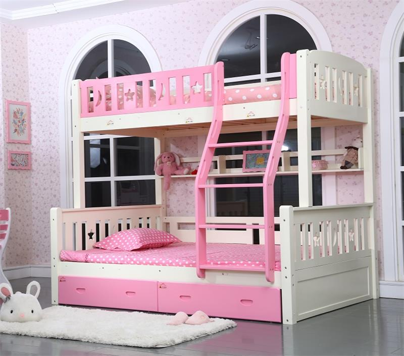 High quality environmental furniture cheap adult wood frame <strong>beds</strong> children heavy duty solid bunk <strong>bed</strong>