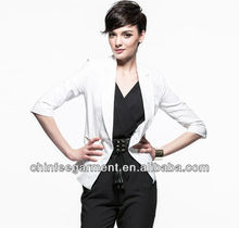 Moda blanco <span class=keywords><strong>mujer</strong></span> Blazers trajes, trajes formales
