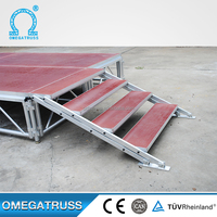 High Quality Cheap 1.22*2.44m Customerization removable platform stage