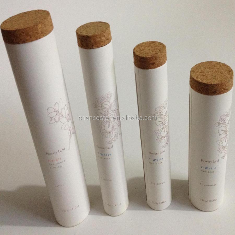 White Paper Cardboard Tube Box Making With Cork Lid - Buy Food Paper