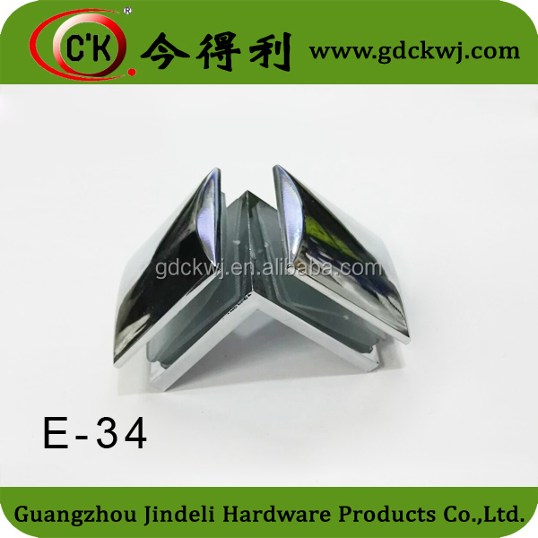 Furniture Hardware 90 Degree Glass Fittings Hasp Latch Stop Hinges