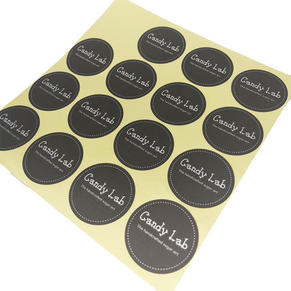 Round Perfume Label Sticker